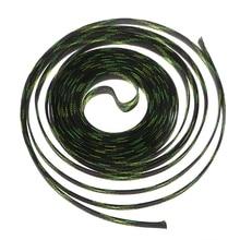 5 м 4-25 мм сетка Расширяемая ПЭТ нейлоновая трос в оплетке защитная оболочка черный+ желтый+ зеленый
