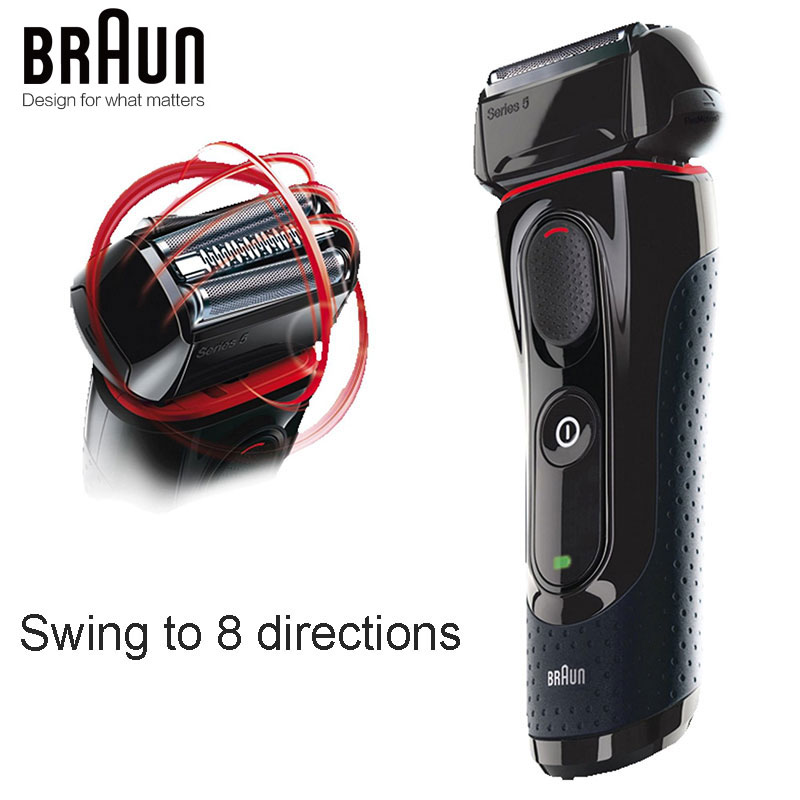 Braun Electric Razor Shaver 5030s For Men Rechargeable Blades High Quality Shaving Safety Quick Charge Reciprocating Triple Head-in Electric Shavers from Home Appliances