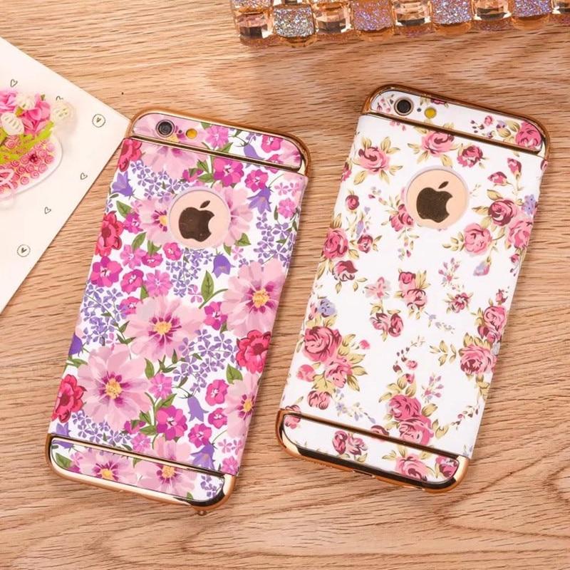 För iphone 7 fodral mode lysande blommig blomma 360 full skydd - Reservdelar och tillbehör för mobiltelefoner - Foto 4