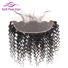 Soft Feel Hair Brazilian Deep Wave With Closure Ear To Ear Lace Frontal Closure With Baby Hair Remy Human Hair Free Part Closure