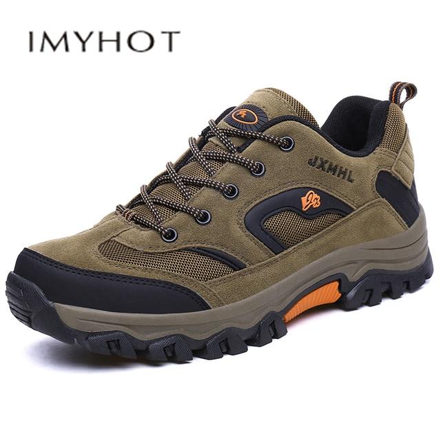 Hot Men Comfortable Non-Slip Hiking Shoes Leisure outdoor Sneakers Men Breathable trekking tactical shoesNon-slip comfortable