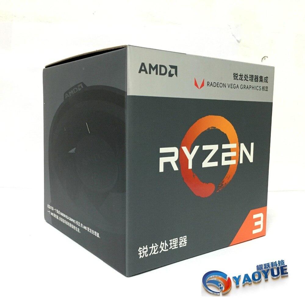 AMD Ryzen 3 2200G PC Computer Quad-Core processor AM4 Desktop Boxed CPU Contains cooler