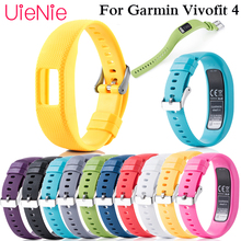 все цены на Silicone wristband for Garmin vivofit 4 smart sport watch bracelet for Garmin vivofit 4 Frontier/classic replacement watch strap онлайн