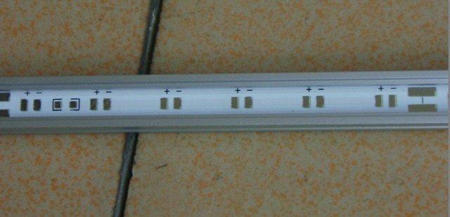 waterproof DC24V input led rigid bar,48cm long,30pcs 3528 leds,please advise me the color