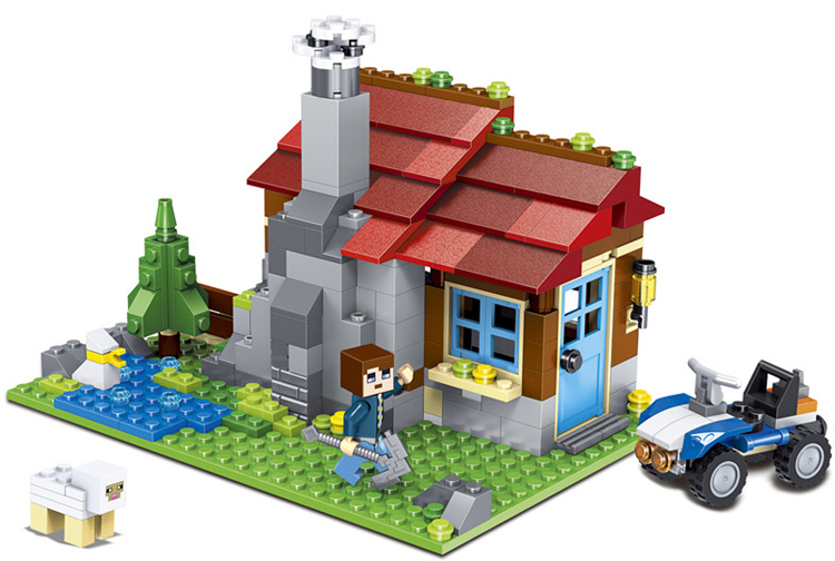 CHINA BRAND Educational Toys for children DIY Building Blocks 3in1 Mountain Hut 31025 Compatible with Lego  china brand l0146 educational toys for children diy building blocks 00146 compatible with lego