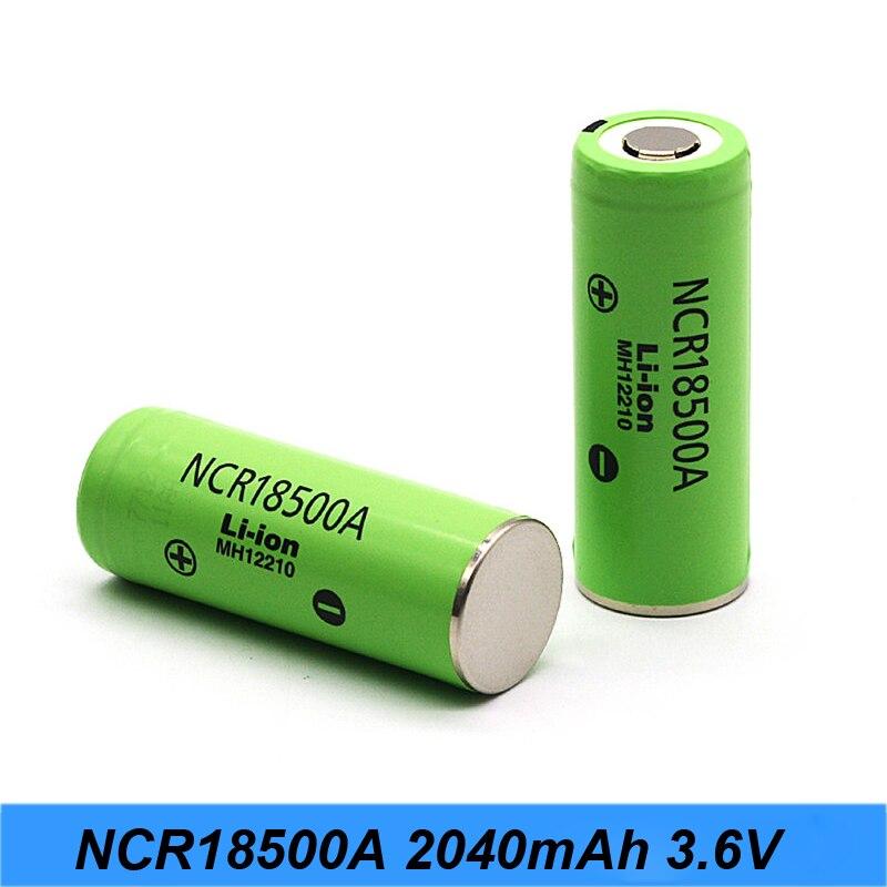 Original 3.6V NCR18500A 2040mAh Rechargeable Battery For Panasoniiic lithium battery 18500 3.7v for camera battery /flashlight