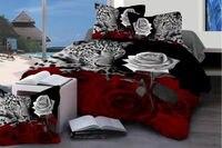 SUPER CHEAP NEW 3D BEDDING SET 4PC DUVET (DOONA/QUILT) COVERS+FLAT SHEET+PILLOWCASE QUEEN SIZE FREE SHIPPING #008