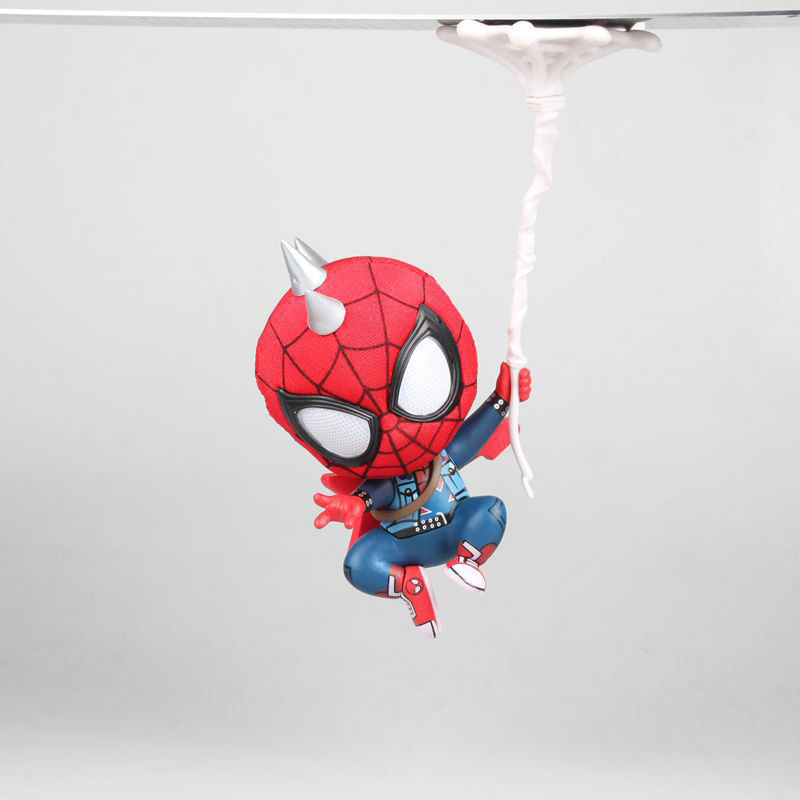 Toys & Hobbies Hospitable Spider Man Bobble Head Mini Action Figure 1/8 Scale Painted Figure Spider Punk Suit Pvc Figure Toy Brinquedos Anime High Quality And Low Overhead