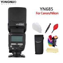 Светодиодная лампа для видеосъемки YONGNUO YN685 N/C вспышка HSS 2,4 г GN60 Беспроводной Master/Slave Speedlite ttl вспышка для Canon Nikon Камера
