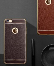 Luxurious Excessive High quality PU Leather-based Plating Case for iPhone 7 7 Plus 6S 6 Plus 5S SE