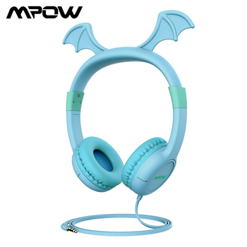 Mpow CH5 3.5mm Wired Kids Headphones 85dB Volume Limited Child-friendly Silicone Children Earphones For iPad Smartphone Laptops