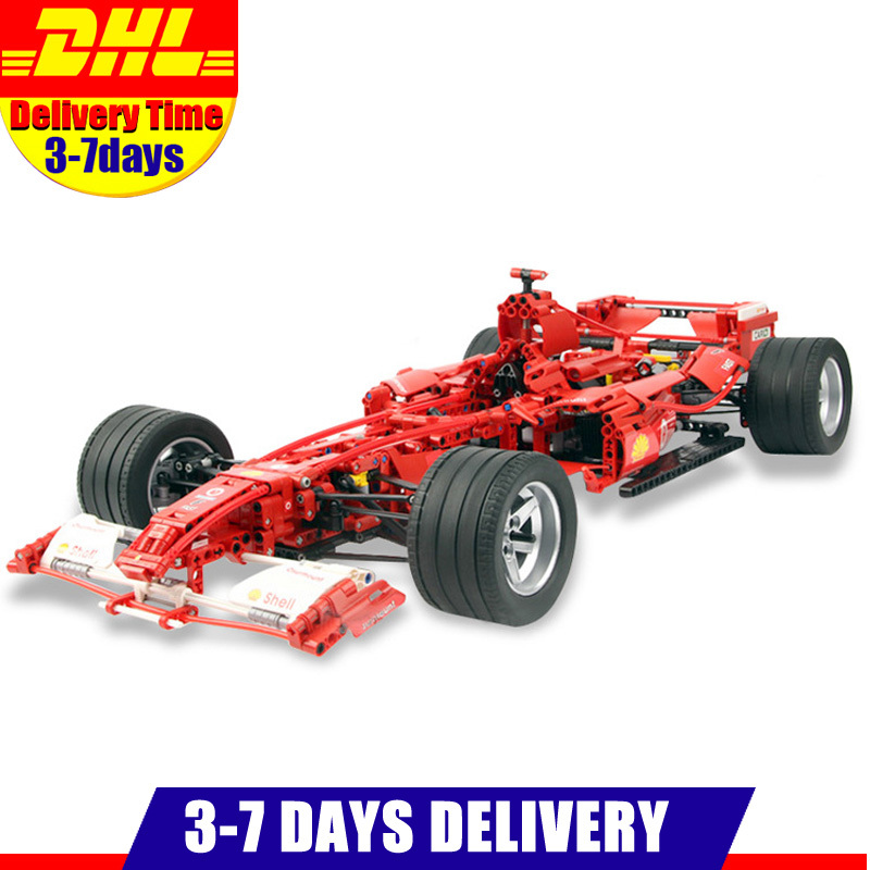 DHL Decool Technic Formula Racing Car 1:8 Model 3335 Building Blocks Sets 1242pcs Educational DIY Bricks Toys Clone 8674 цена