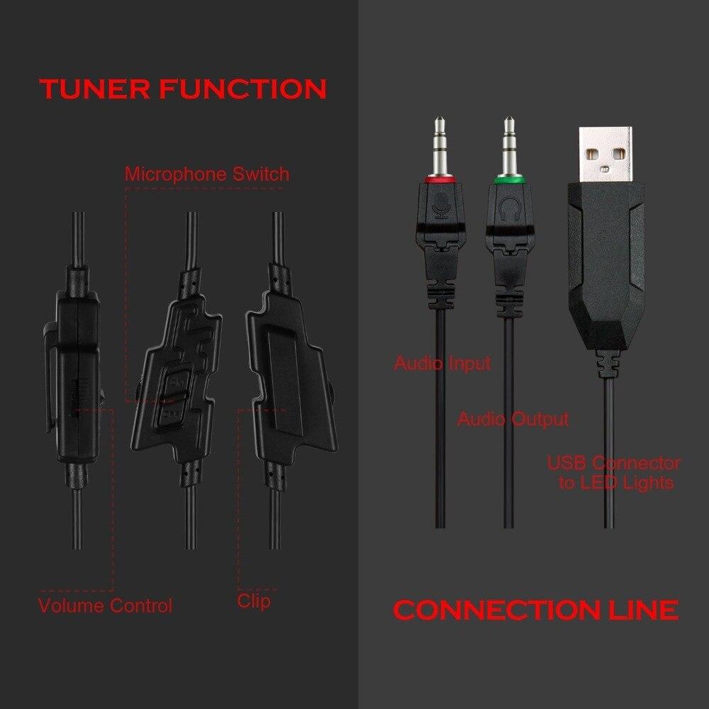SADES Spirito Lupo wired gaming headset casque audio stereo di gioco 3.5mm cuffie  con microfono per il computer portatile del computer pc gamer in SADES ... 2e9e8186bd37