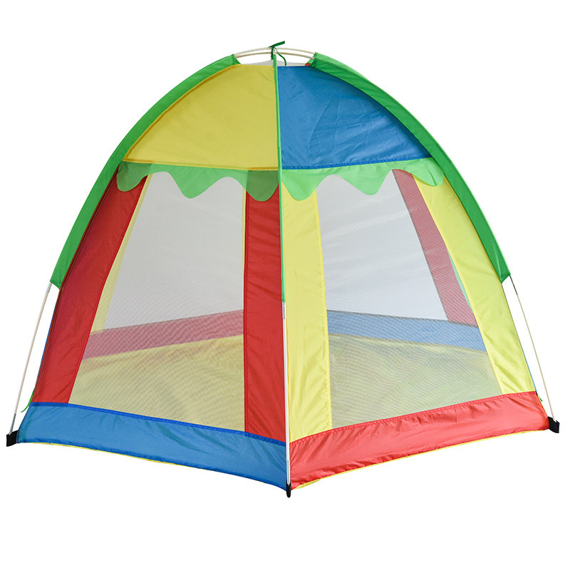 Hewolf Outdoor Six Corner Childrens Tent Breathable Polyester Seven Color Rainbow Childrens Playing Tents Camping&Hiking Tents