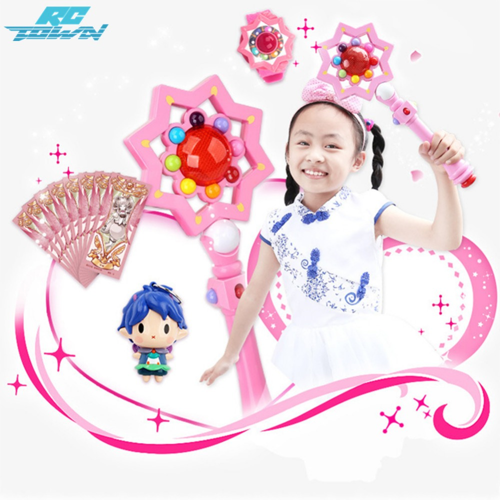 RCtown Luminous Musical Magic Wand Sets Cosplay Fairy Glow Stick Toys as Xmas Gifts for Kids ZK30