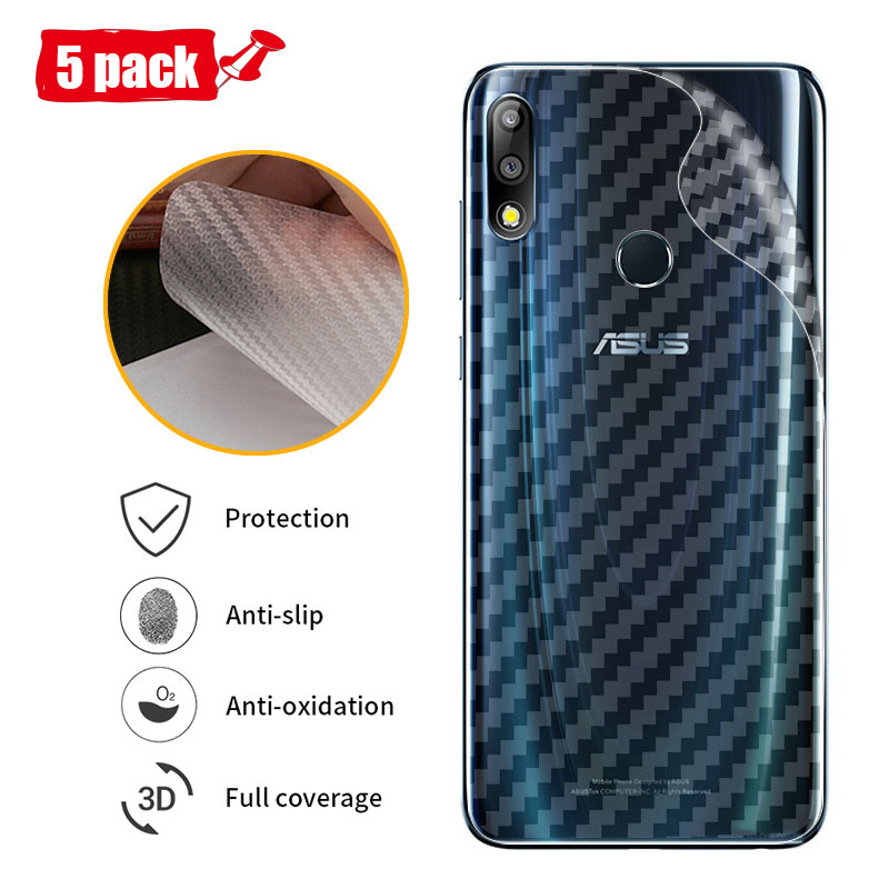 5pcs For Asus Zenfone Max Pro M2 ZB631KL  Carbon Fiber Soft Back Screen Protector Sticker Full Cover Protective Film For 631kl