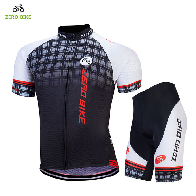 24b100dc8 ZERO BIKE 2017 Summer Short Sleeves Cycling Clothing Breathable 4D Gel  Padded Bicycle Shorts + Jersey Ciclismo Black M-XXL