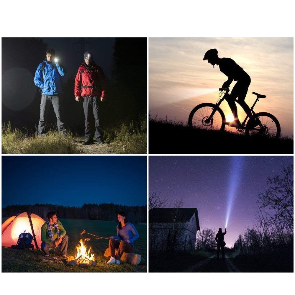 Купить с кэшбэком CHIZAO Flashlight Handy USB Rechargeable LED Torch Light High brightness Outdoor Camping Emergency Hiking lighting battery
