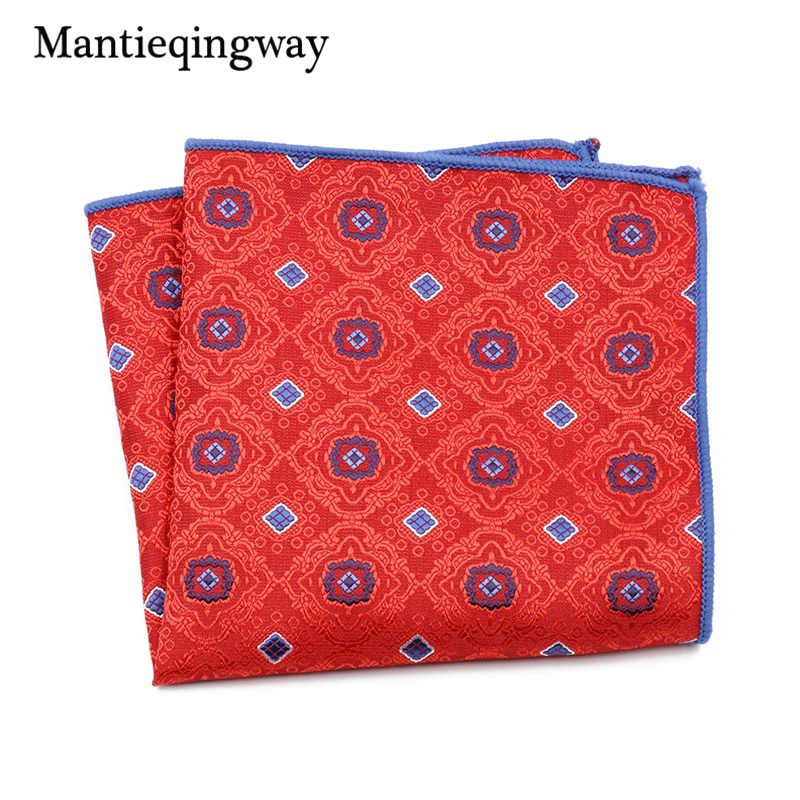 Mantieqingway Business Suit Pocket Hanky Paisley Floral Handkerchief For Mens Polyester Printing Chest Towel Pocket Square Towel