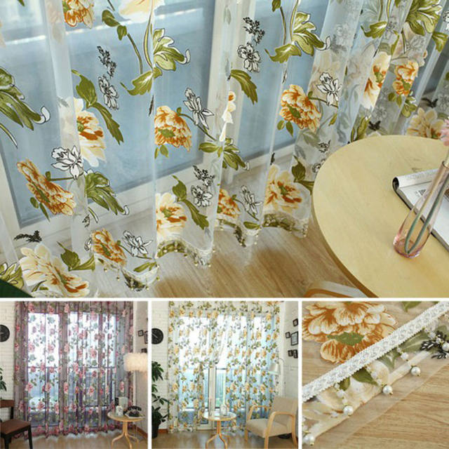 Online Shop Flower Embroidered Chinese luxury 3D Window Curtains ...