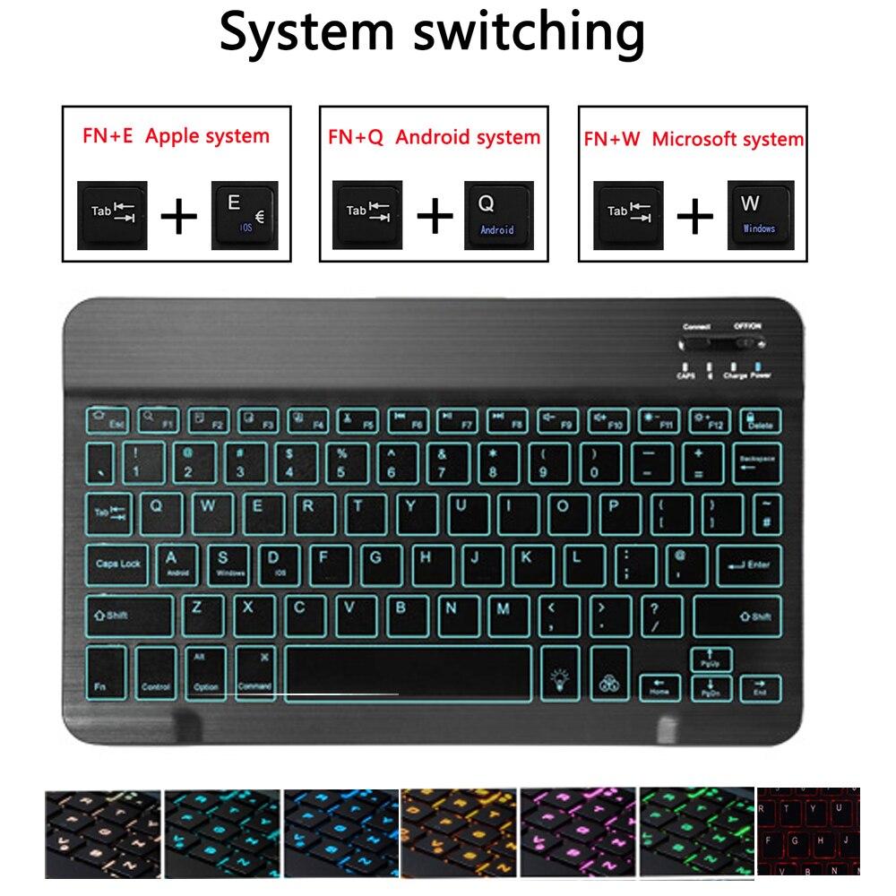 Image 4 - Backlit Keyboard Case for Apple iPad Air 10.5 2019 Air 3 Case for iPad Pro 10.5 2017 Bluetooth Keyboard Cover Funda Pencil SlotTablets & e-Books Case   -
