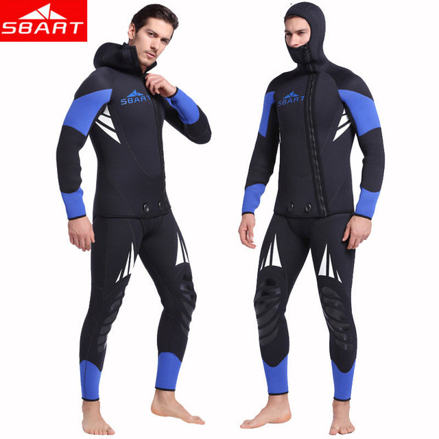SBART 5MM Thickened Neoperne Wetsuit Long Sleeved Two Piece Thickened 5MM Neoperne Jellyfish Swimming Jellyfish Diving Wetsuit