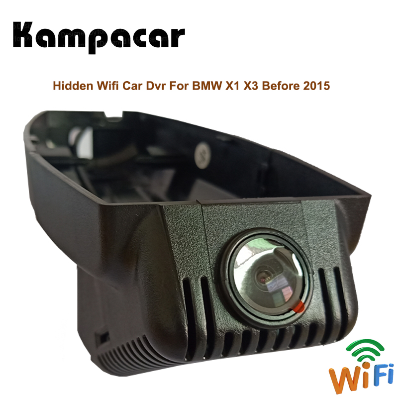 все цены на Kampacar Two Lens Wifi Dash Cam HD Car Dvr For BMW X1 F48 E84 Mini Camera Video Recorder X3 E83 F25 G01 Before 2015 Car Back Box онлайн