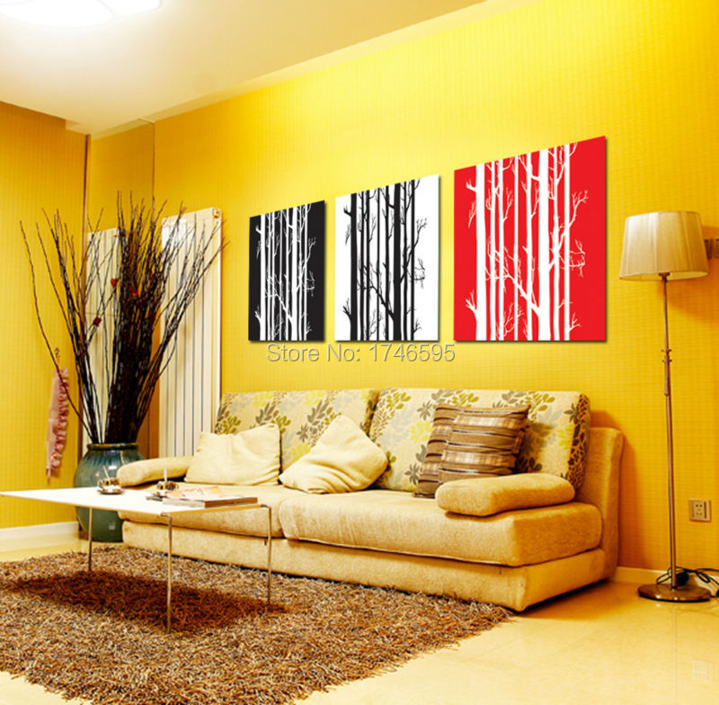 oil paintings on canvas painting wall art deor for living room red ...