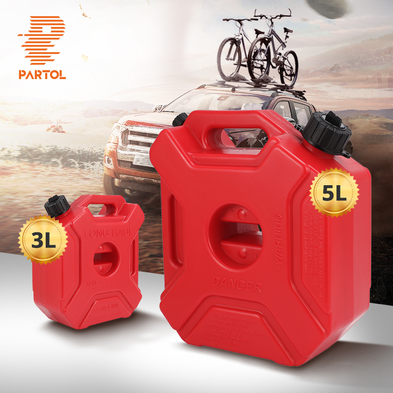 Partol 3L 5L Red Fuel Tank Cans Spare Plastic Petrol Tanks Mount Motorcycle Jerrycan Gas Can Gasoline Oil Container Fuel-jugs ef6600 petrol generator spare parts fuel tank assembly