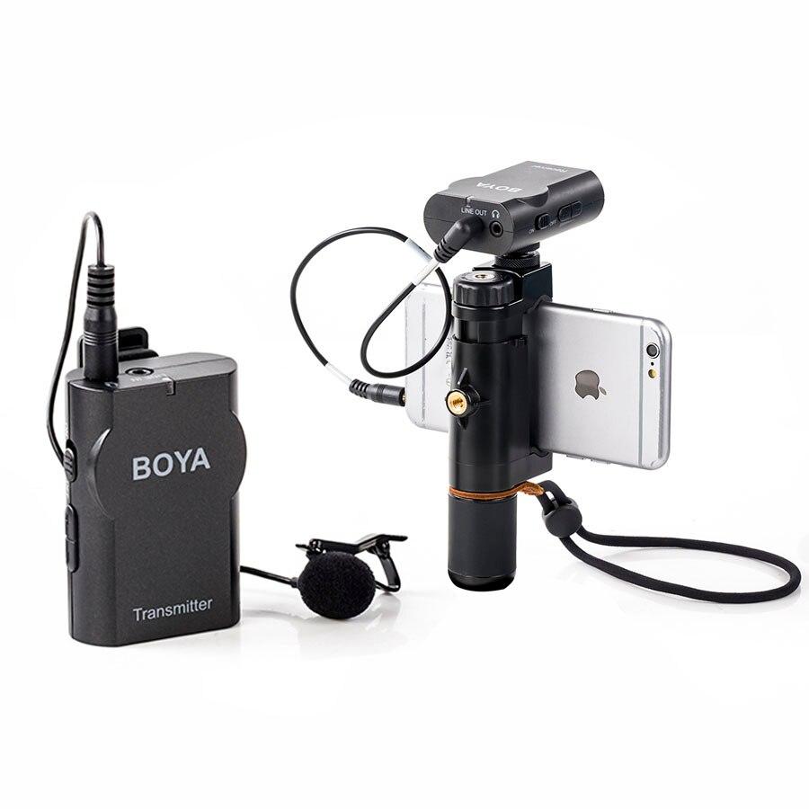 BOYA BY-WM4 Professionnel Sans Fil Microphone Omnidirectionnel Micro-Cravate Pour Canon DSLR Enregistreur Pour iPhone 5 6 7 8 Microphones
