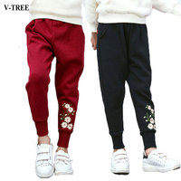 V TREE Children Sports Pants Casual Girls Trousers Spring Autumn Pants For 4 12 Years Teenager