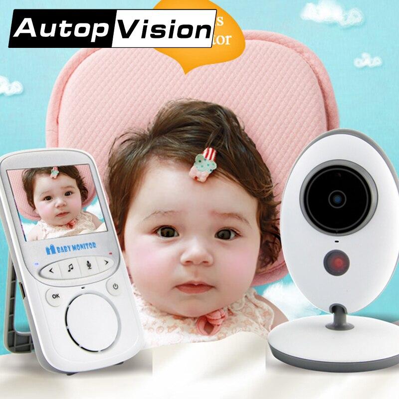 VB605 5 PCS/lot sans fil Vision nocturne bébé moniteur vidéo LCD moniteur caméra musique température avec affichage bébé nounou moniteur