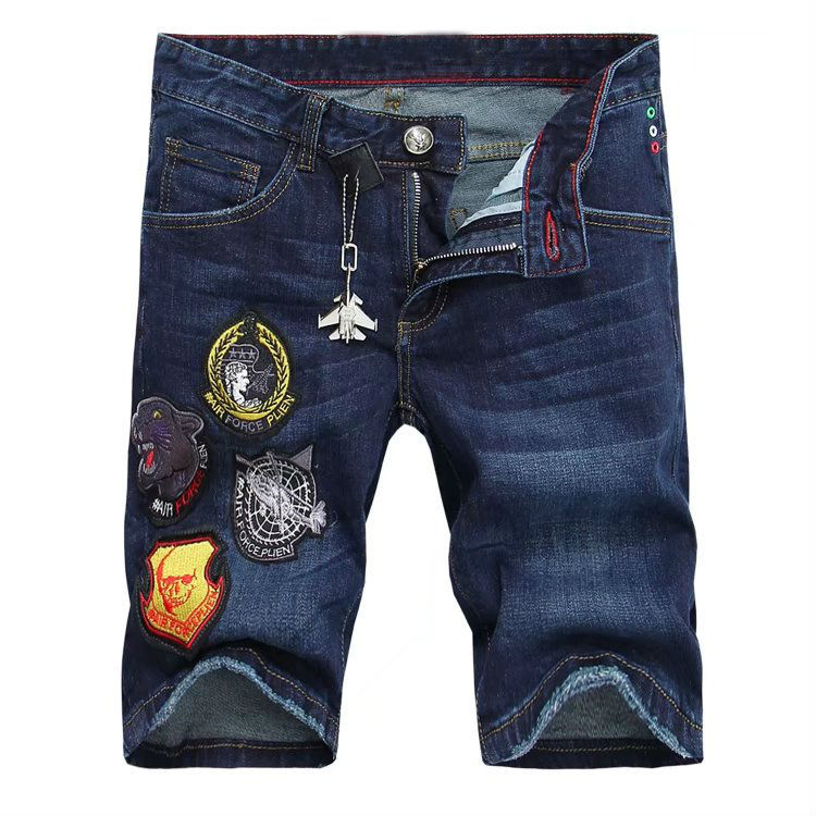 Summer Men's jeans embroidery with hole in Europe and the United States jeans micro play cultivate Bull-puncher knickers ZK10082 блуза overmoon by acoola overmoon by acoola ov004eguwv47