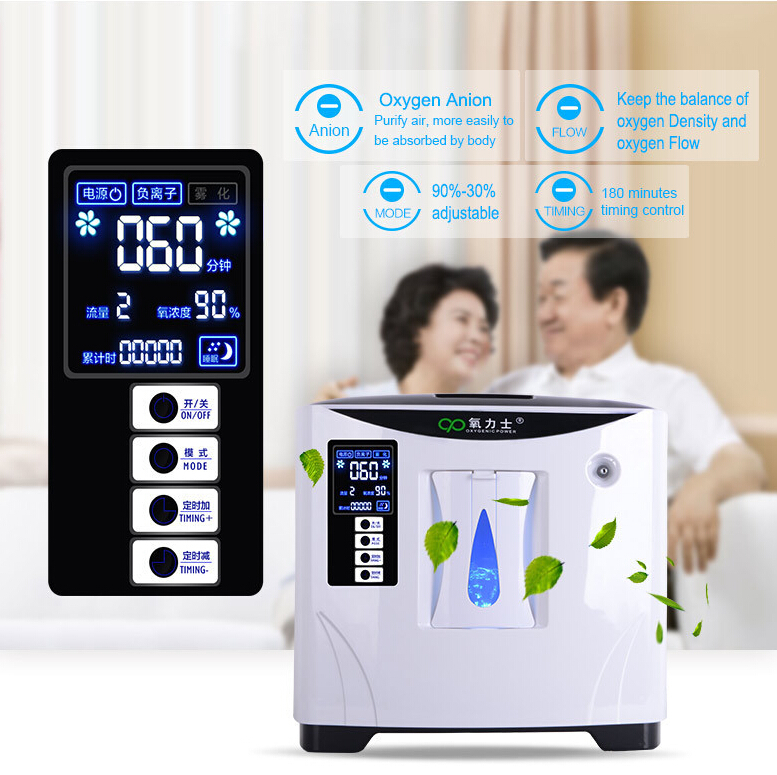 Glantop Hot Sale 9L Large Flow Home Use Oxgyenating Portable Oxygen Concentrator Free Shipping