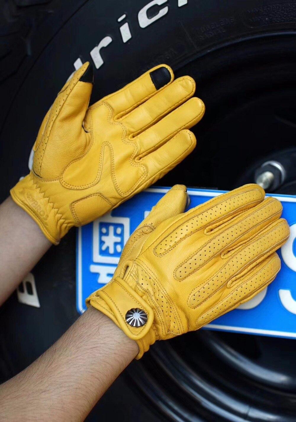 Новый uglyBROS мотоциклетные Прихватки для мангала Винтаж овчины перчатки защитные 3 цвета унисекс road перчатки