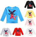 2-8Years GB costume bing bunny rabbit t shirt long sleeve boys tees teenage boys clothing girls autumn clothes 100% cotton