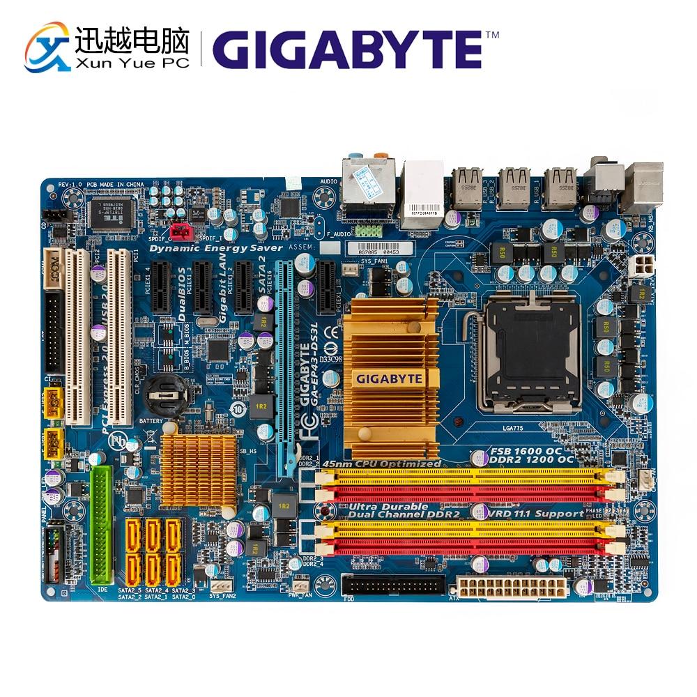Gigabyte GA-EP43-DS3L Desktop Motherboard EP43-S3L P43 LGA 775 DDR2 16G SATA2 USB2.0 ATX