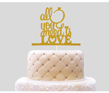 all you need is love Cake Topper Cupcakes flags Bridal Shower Glitter Shiny Paper Bachelorette Hawaiian wedding Birthday Party добрые блокноты all you need is cupcakes блокнот для хорошего настроения и творчества