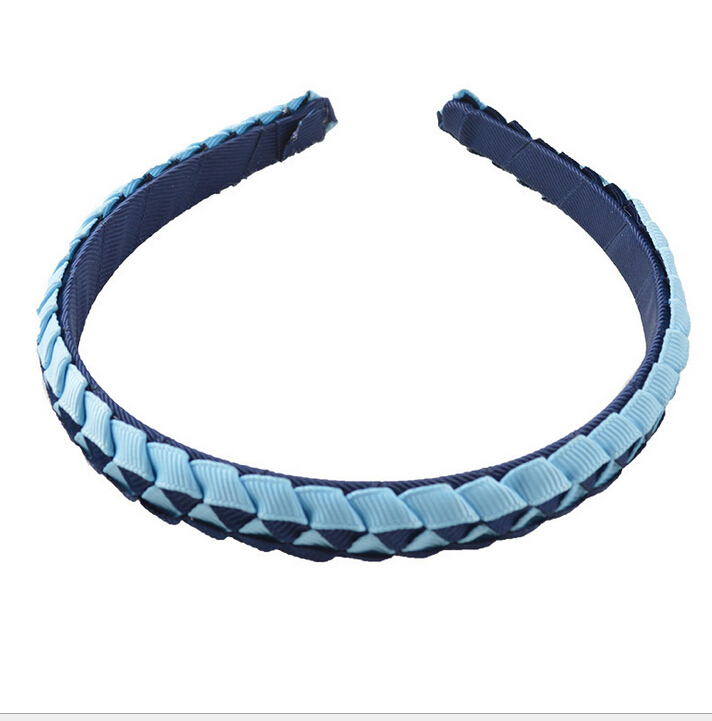 50pcs Preppy Boutique Classic weaving grosgrain ribbon fully lined winding hair bands Basic head bands for