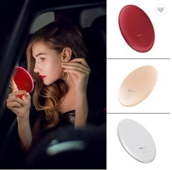Hand Small Portable Pocket Vanity Lighted Make up Light Make Up Led Makeup Mirror With Wireless Charger Hand Charging Tool Parts