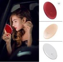 Ручной маленький портативный карманный косметический светильник с подсветкой для макияжа, светодиодное зеркало для макияжа с беспроводным зарядным устройством, запчасти для ручного зарядного устройства