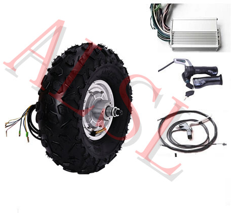 14.5\u0026quot; 800W 48V electric scooter wheel hub motor electric skateboard kit 3 wheel electric scooter