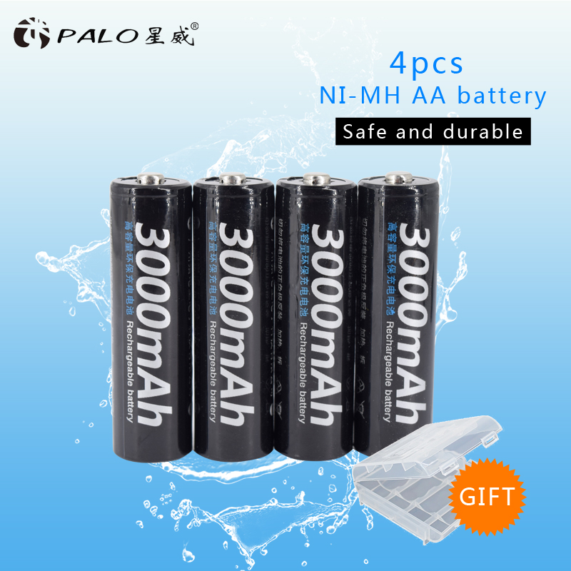 8pcs 100% PALO original battery 3000mAh NiMH AA rechargeable batteries, high-quality toys, cameras, flashlights and battery