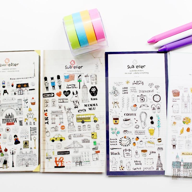 DIY Diary Sticker Planer Creative Cartoon Sticker Match Dokibook
