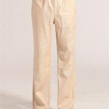 Весенне-осенние бежевые китайские мужские брюки кунг-фу тай-чи, хлопковые льняные брюки, одежда, размер S M L XL XXL XXXL MNP06