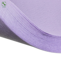 Solid Felt Fabric Sheet 30X30cm Light Purple Pure Color Polyester Felt Pack DIY Craft Squares Nonwoven