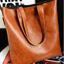 Oil quality PU leather women bag retro British European and