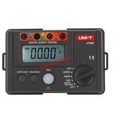ЖК-ДИСПЛЕЙ Высокой Точности Цифровой Тестер Сопротивления Земли Цифровой Дисплей 0-400 В 0-4000 ом Сопротивление Заземления UNI-T UT522