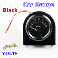 "2 ""52mm VOLTS Calibre Car VOLT Medidor Car Medidores de Tensão 8 ~ 16 V Preto Shell 12 V Bitolas automotivos"