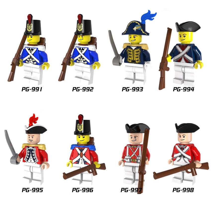 8pcs/lot Hero Imperial Navy Soldier Warfare Figure Building Block Compatible Figures Brick DIY Toy For Children Gift
